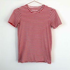Everlane • Pima cotton tee orange/red and white